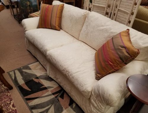 White sofa like new condition 599.95 @BR