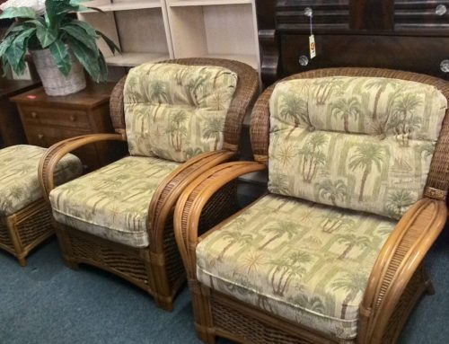 Palm Springs Garden & Rattan Classics~ Patio Chairs, 1 Ottoman Set Clark Road Location